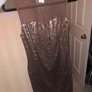 Gold sequin tank top dress